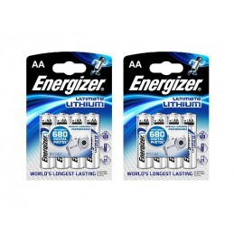 2x Batteries Energizer AA 1.5V Lithium